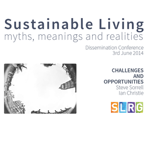 Challenges and Opportunities - Session 3, SLRG Dissemination Event