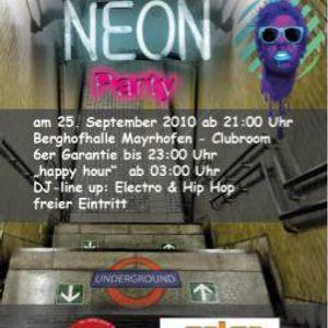 Neon Underground Party @ Berghofhalle 25.09.2010