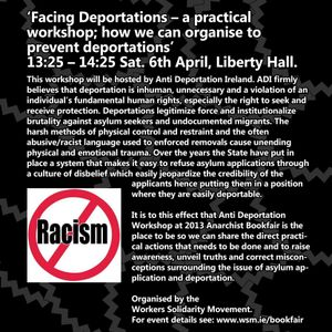 Resisting Racism - anti deportations discussion from Dublin Anarchist Bookfair
