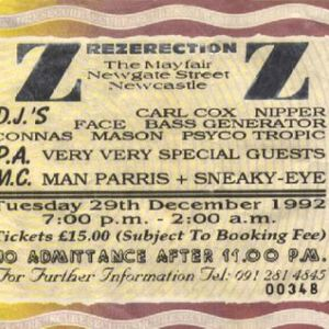 Carl Cox Rezerection 'Au Revoir' 29th December 1992