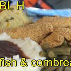 Catfish and cornbread