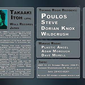 Poulos @ Budapestechno 2005-12-03 - Kashmir Underground