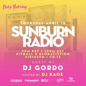Sunburn Radio Guest Mix on SiriusXM Ch. 13
