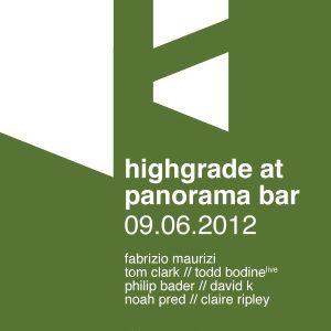 Todd Bodine Live @ Panorama Bar
