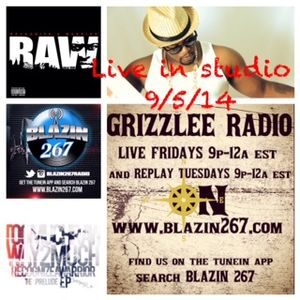 GRIZZLEE RADIO (Divine and Calente) 9-5-14 with Too Much RAW, Dj Ghetto and Thee Darcknight
