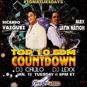Top 10 EDM Countdown Show - Jan 13, 2015 - Special Guests Ricardo Vazquez and Alex of Latin Nation