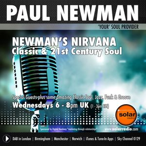 """Paul Newman """"Soul Provider"""" Wed 01-3-17 with Donny Hathaway on Newman's Nirvana - Solar Radio"""