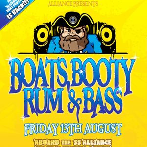 NICKY BLACKMARKET - LIVE @ ALLIANCE BOATS, BOOTY, RUM & BASS 12/08/2010