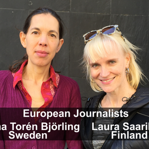 Two European journalists visit as they cover arcane US politics