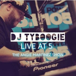 """DJ TYBOOGIE LIVE ON THE ANGIE MARTINEZ SHOW """"LIVE @ 5 MIX (AIRED) 3/14/17"""