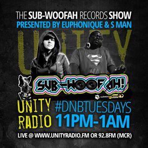 Euphonique & S Man Sub-Woofah Records show Unity Radio 92.8FM Podcast // 14/01/14