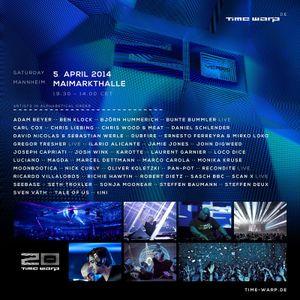 Pan-Pot @ Time Warp Mannheim 2014 (20 Years Anniversary) (05.04.14)