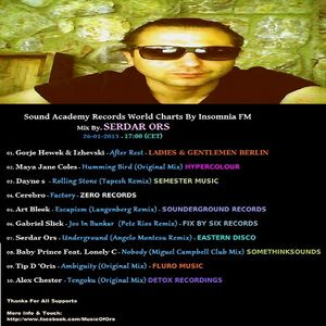 S.A.R. World Charts On Insomnia FM 26 - 01 - 2013 Mix By Serdar Ors