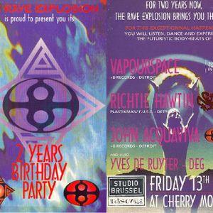 RICHIE HAWTIN @ 2 Years Rave Explosion @ Cherry Moon (Lokeren):13-05-1994