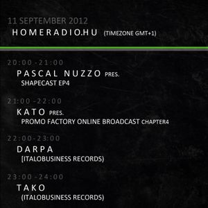 KATO Promo-Factory Radio Broadcast 2012 09 11 22-23h (GMT+1) Special Guest: Darpa (Italo Business)