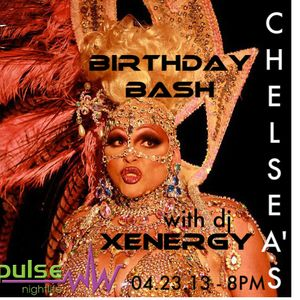 DJ XENERGY - CHELSEA PEARL BIRTHDAY BASH at pulse nightlife 4/23/13 (Full Live Set)