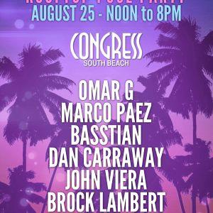 BassTian @ Sunday Social August 25th - Congress Hotel Miami