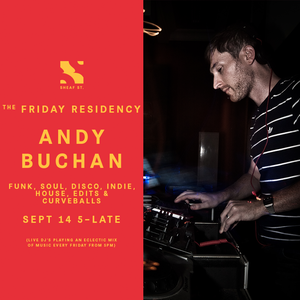 The Friday Residency Live - Andy Buchan - 20/09/19