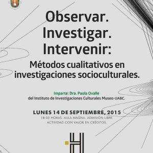 Observar, investigar e Intervenir Paola Ovalle