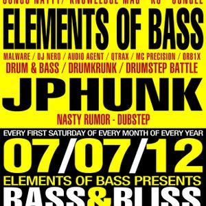 JPhunk - Live @ Bass & Bliss - 07/07/12