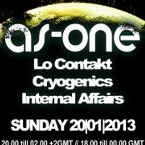 Internal Affairs radio show - S02E01 (20-01-2013) - Season 2 Premiere on Innersence DNB UK - As One
