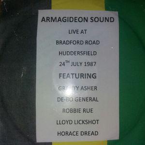 Armagideon Sound System LIVE on Bradford Road, Huddersfield 24Jul1987