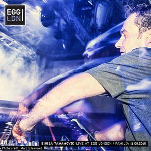 Sinisa Tamamovic Live DJ set at Egg London, Familia 11.06.2016