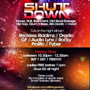 SHUTDOWN DEEP HOUSE MIX @ INIGO BAR CLAPHAM 28TH JULY