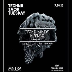 Devine Minds In Time Ft. Violin Girl @ Techno Taco Tuesday (7.14.15)