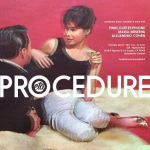 PROCEDURE.LA June 8, 2017. Pinkcourtesyphone set