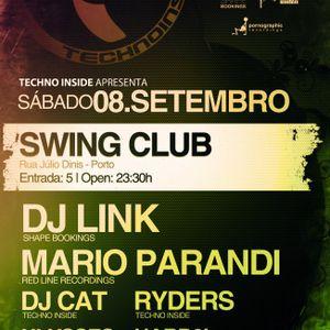 DJ Link - Live @ Techno Inside, Swing Club, Porto, Portugal (08.09.2012)