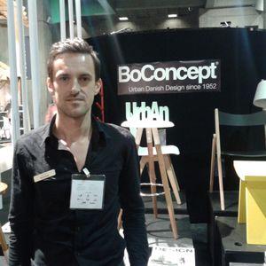 Stéphane représentant de la marque danoise de meuble design, Boconcept