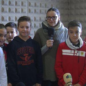 Visita de los alumnos del CEIP Rodríguez Aniceto, por Navidad a Cadena Dial Europa 99.0