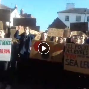 Newbury Students on Climate Strike question MP Richard Benyon