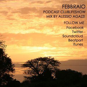 Podcast 21/2 Clublife Show Radio - Alessio Agazzi mix promo chart