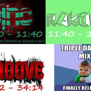D!NO, Rakoon & DJ Smoove - Triple Damage Mix (House/Progressive House)