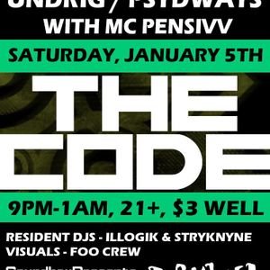 Undrig - Live @ The Code (Portland Maine)- Jan 6th 2013