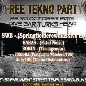 Karas DJ-set @ TechnoDistributors SWB live party, 23-10-15 DUBLIN