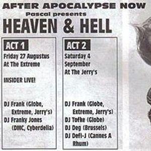 "Franky Jones at ""Heaven & Hell - Act One"" @ Extreme (Affligem - Belgium) - 27 August 1993"