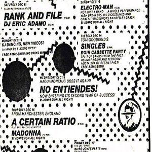 DJ Eric Adamo - Live Danceteria 1982 On Microdot Acid With 3 Turntables