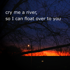 Cry me a river, so I can float over to you (2011 Remix)