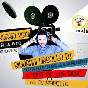 """7/02/2k13 Dj Set """"LIVE"""" GIOVANNI URSOLEO with Marietto in Out of The Box - Radio Maliboom Milano"""