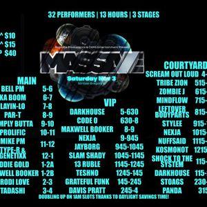 "Recorded Live @ ""MASSIVE"" 03NOV12; Sinister Bass Mob D'n'B tag-team session aka DJ Stylee vs Mike PM"