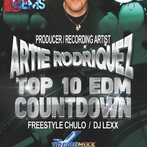 TOP 10 EDM Countdown with Freestyle Chulo and DJ Lexx!  Special Guest Artie Rodriquez 6-28-16