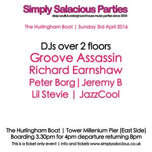 The Simply Salacious Dance Party with Peter Borg 22 March 2016