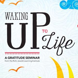 Rabbi Eliyahu Schusterman - Waking Up To Life - A Gratitude Seminar