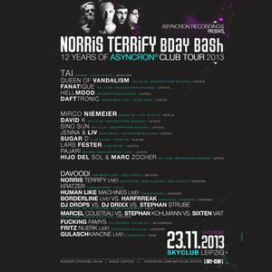 DJ Drops vs DJ Drixx vs Stephan Strube @ Norris Terrify Bday Bash   SKY CLUB Leipzig   2311-2013
