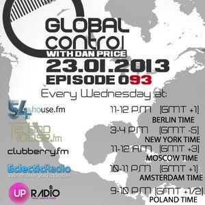Dan Price - Global Control Episode 093 (23.01.13)
