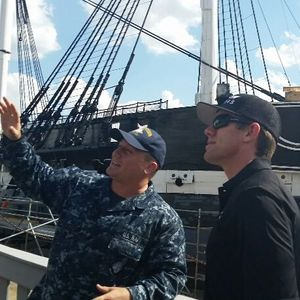 NH Now: Carl Edwards Tours USS Constitution 6-7-16