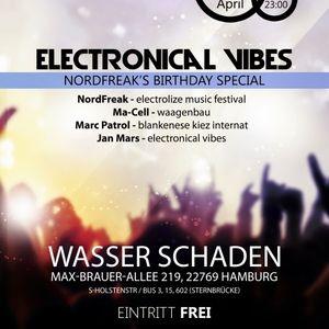 Ma-Cell - DJ Set at electronical vibes, Wasser Schaden, Hamburg - 10.04.2015